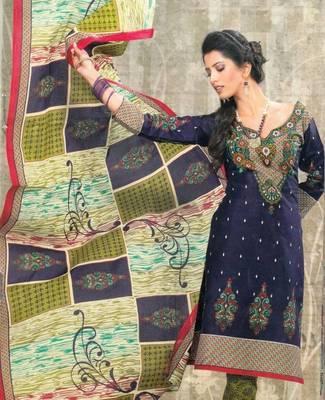Dress material cotton designer prints unstitched salwar kameez suit d.no SG9122