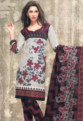 Dress material cotton designer prints unstitched salwar kameez suit d.no sg9125