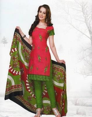 Dress material cotton designer prints unstitched salwar kameez suit d.no var7007