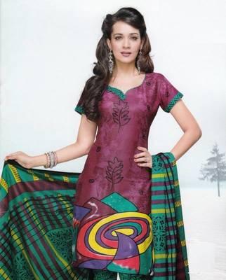 Dress material cotton designer prints unstitched salwar kameez suit d.no var7009