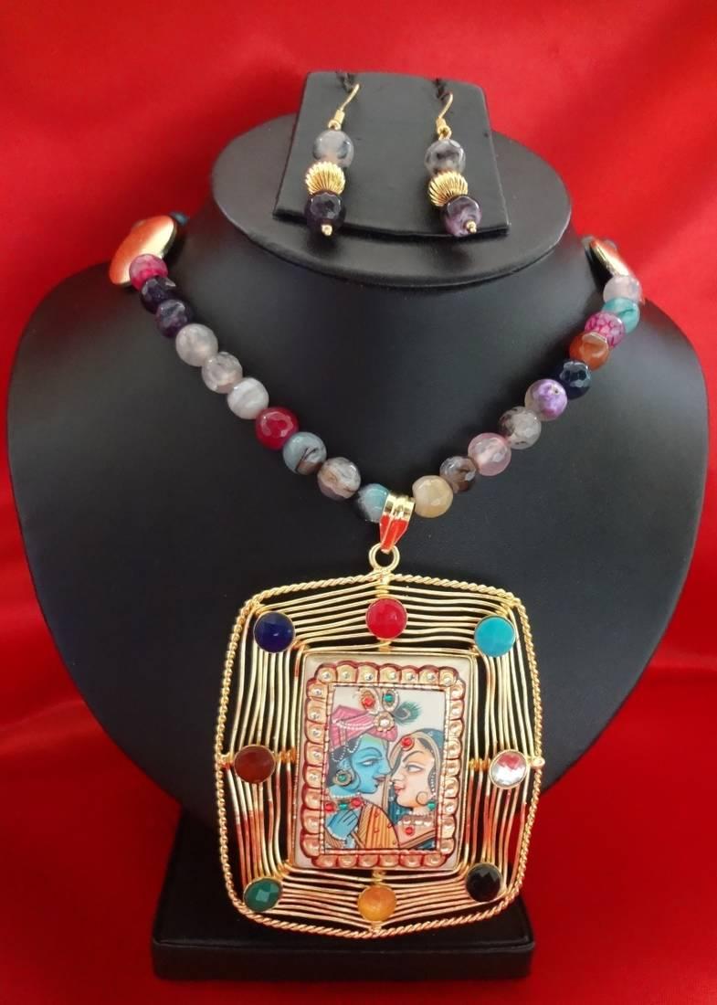 Buy radha krishna pendant set online radha krishna pendant set aloadofball Gallery