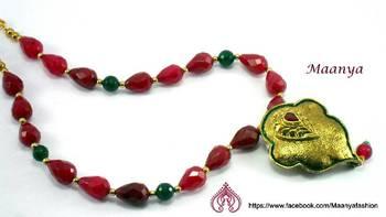 Antique ruby necklace