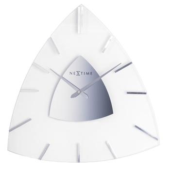 2936-BERMUDA Triangle shape glass classy clock