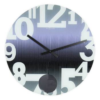 8127pa-SWING Funky Purple Blue Pendulam Stylish Clock