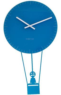 8145bl-FLYING TIME Funky Blue Clock with Pendulam