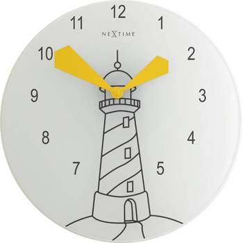 8808-LIGHT HOUSE Yellow Clock for Kids Teens room