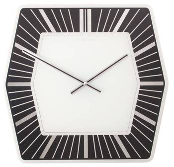 8128zw-Hexagone Black and White Clock