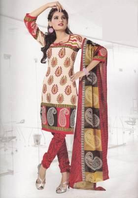 Crepe dress material elegant designer unstitched salwar suit d.no 4308