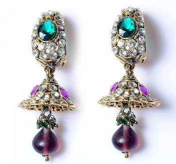 Jhumka style earrings