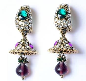 Jhumka style earrings