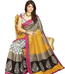 multicolor printed art_silk saree shop online