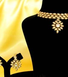 Buy Elegant Kundan Choker Necklace Set necklace-set online