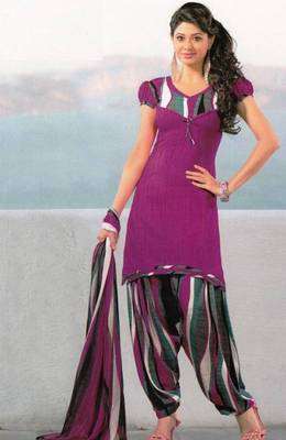 Dress Material Crepe Unstitched Patiala Salwar Kameez Suit D.No 6158