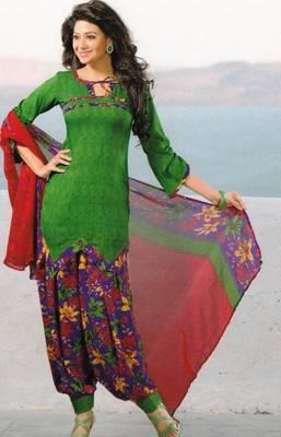 Dress Material Crepe Unstitched Patiala Salwar Kameez Suit D.No 6163