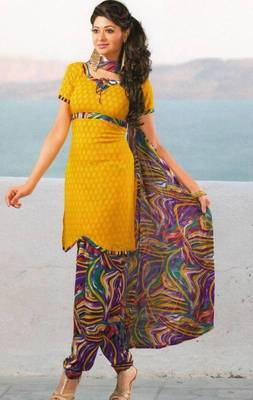 Dress Material Crepe Unstitched Patiala Salwar Kameez Suit D.No 6169