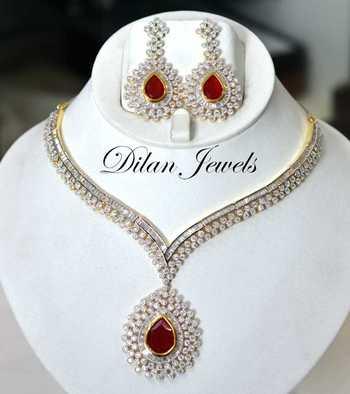 Ruby Diamond Elegance Set
