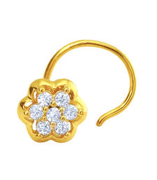 Buy Gold Plated Floral Dream Nosepin with CZ for Women nose-ring online