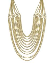 Buy Ethnic Multi-Layered Golden Necklace Necklace online
