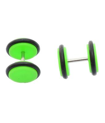 Green Green Plastic Pair Stud Earring for Men