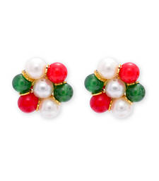 Buy silver alloy with stones Earring online