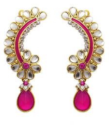 Bollywood Fashion Jewelry Set Cuff Dangler Earrings