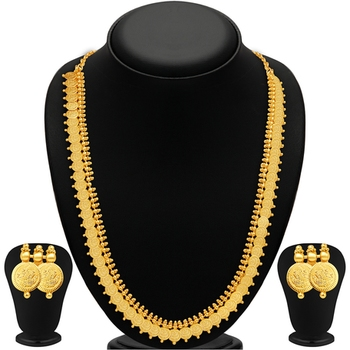 Royal Gold Plated Temple Jewellery Necklace Set