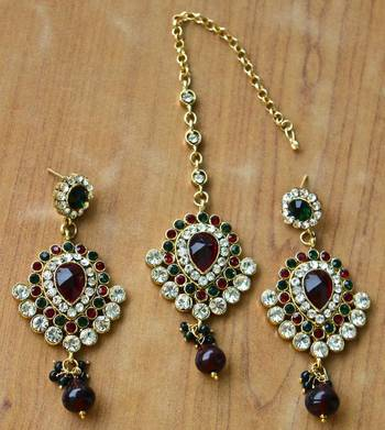 Earring with Maang Tikka
