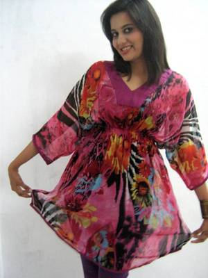 Tropical Pink Printed Tunic