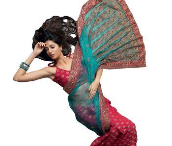 Designer Indian Sari SimSim 7001 B