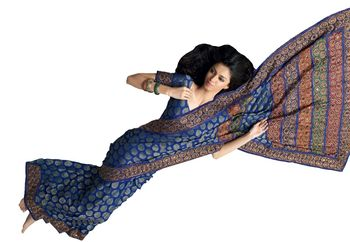 Designer Indian Sari SimSim 7005 B