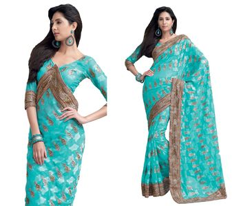 Designer Indian Sari SimSim 7013 A