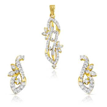 Mahi Ravishing Long Pendant Set with CZ