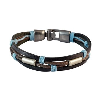 Men Multi-stranded Leather Bracelet Dark Brown color for Everyday wear
