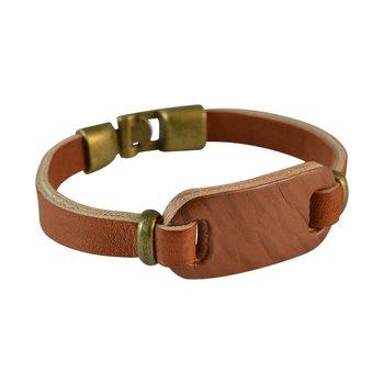 Men  Leather Bracelet Brown color for Everyday wear