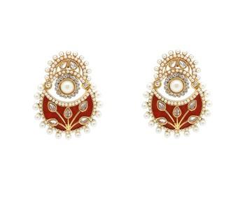 Sparkling Maroon Earrings