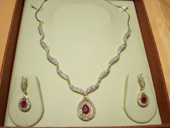 Ruby Red AD Necklace 013