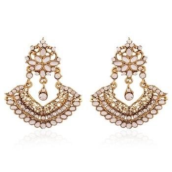 Glistening Gold Plated Jewellery Earrings For Women