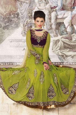 Party Wear Dress Material Glamour804b
