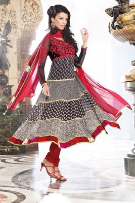 Party Wear Dress Material Glamour810a