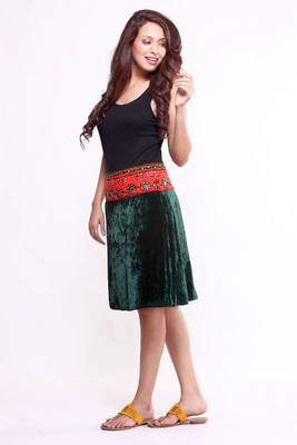 Ethnic Straight Fusion Skirt