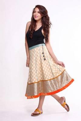 Ethnic Flared Fusion Skirt