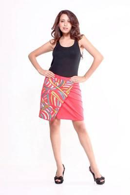 Ethnic Overlapped Skirt