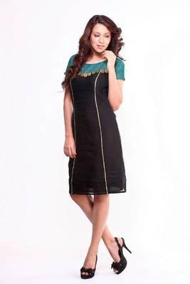 Ethnic Fusion Chanderi-Organza Dress