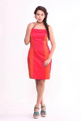 Ethnic Fusion Cotton Lycra Dress