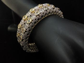 Gold Silver Royal Diamond Bangles