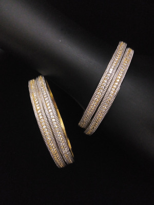 Gold Silver  Diamond Bangles