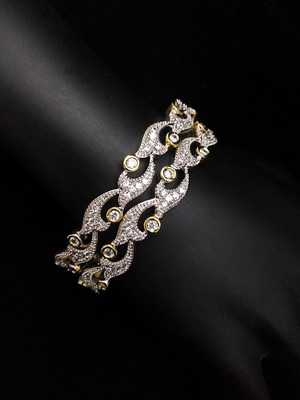 Gold Silver Stylish  Diamond Bangles