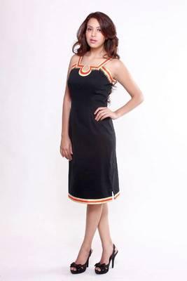 Ethnic Fusion Stretch Cotton Dress