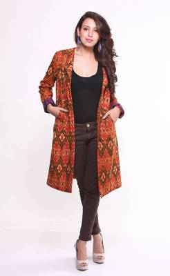 Ethnic Cotton Ikat Jacket