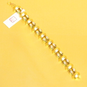 Kundan Meenakari Antique Gold Look Bracelet
